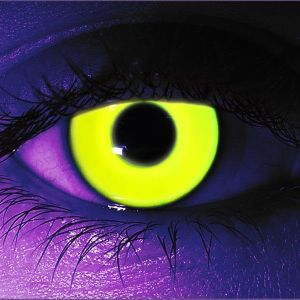 Yellow UV Gothika Contact Lenses