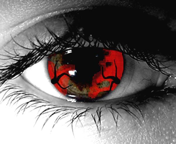 Zombie Hemorrhage Gothika Contact Lenses