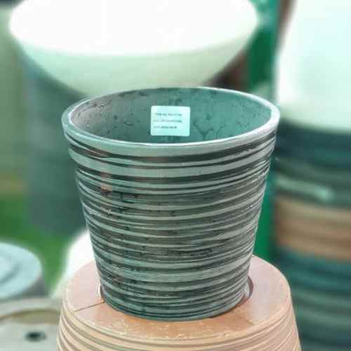 Green Ship Plant Pot