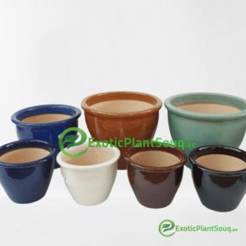 Ceramic Pots (Rim Glazed)