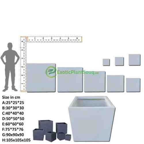 Fiberclay Square Planter Pots