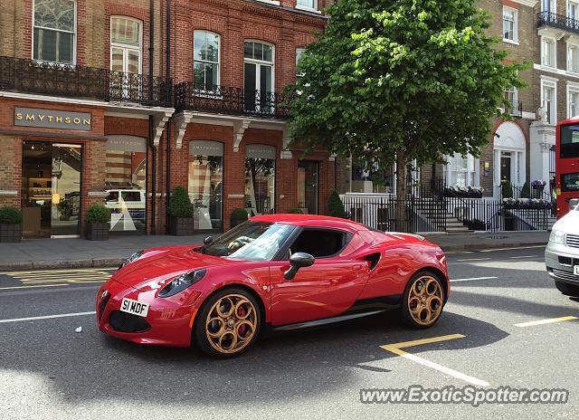 Alfa Romeo 4c Spotted In London, United Kingdom On 05302015