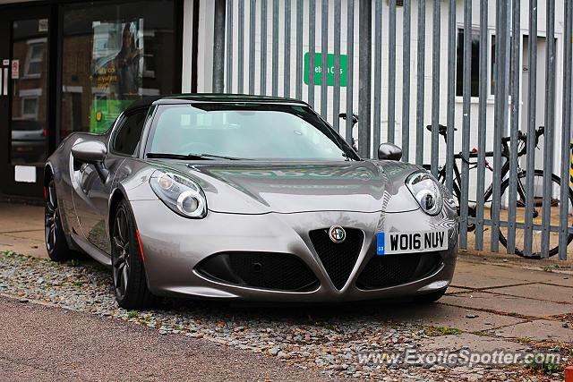 Alfa Romeo 4c Spotted In Cambridge, United Kingdom On 09