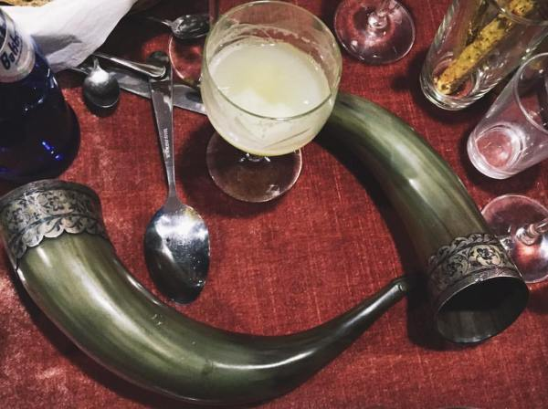 The infamous Georgian drinking horns natural wines