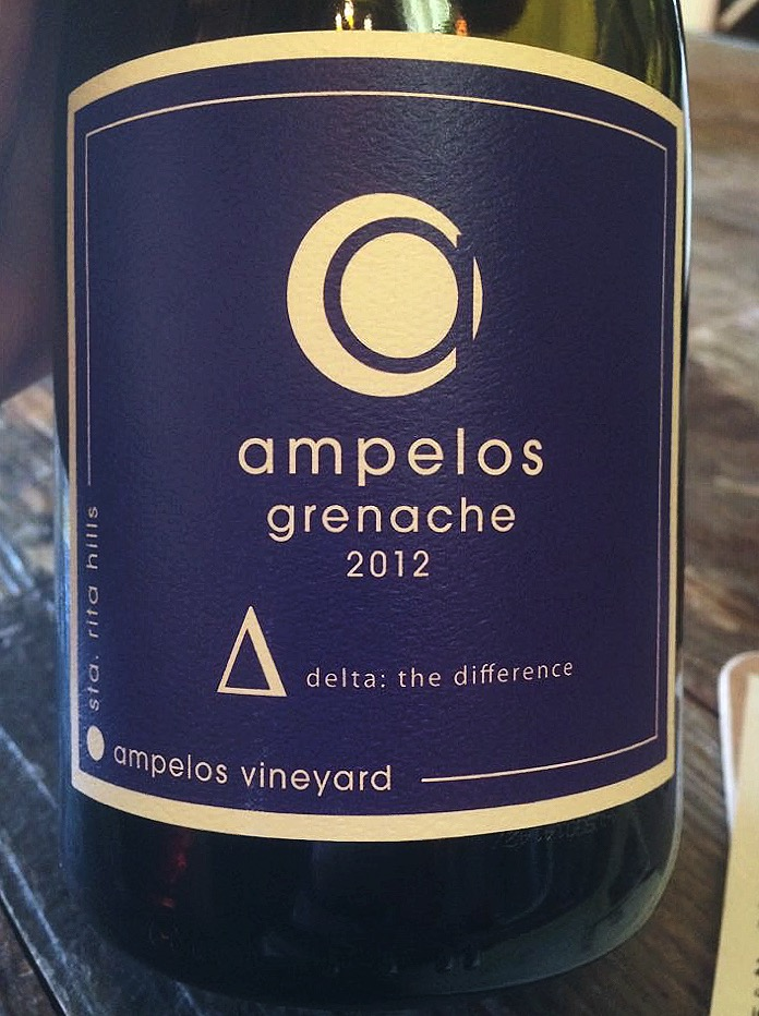 Ampelos, Grenache, Delta, 2012 wines from santa barbara