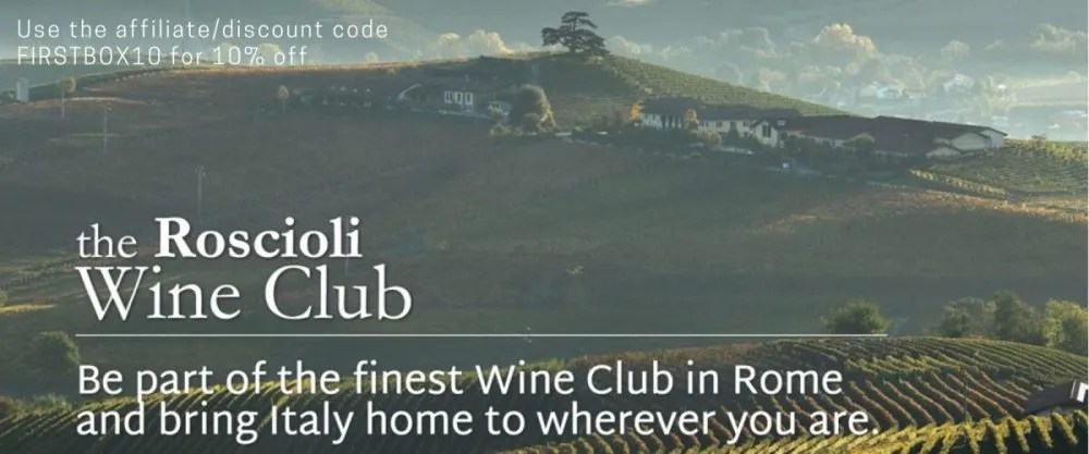 Roscioli Wine Club Discount Code