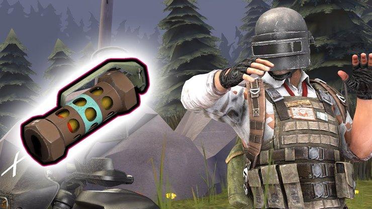 PUBG Mobile, bom, lựu đạn, loot, nhặt, vũ khí ném