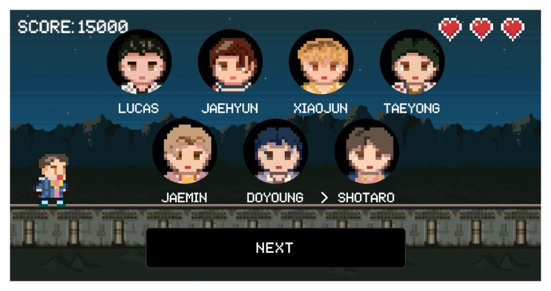 NCT make a wish runner game