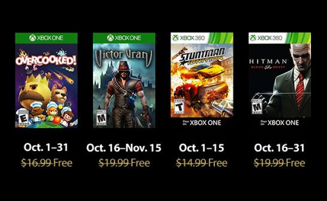 Xbox One Games With Gold For October 2018 Revealed Exp 4 All