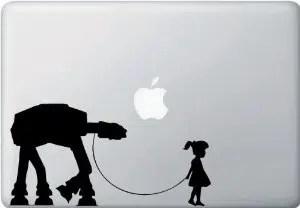 Girl Walking AT-AT Vinyl Laptop or Macbook Decal