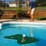 pool gadgets Putt-A-Bout Aqua Golf Floating Putting Mat, Green