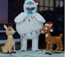 Rudolph, Clarice, and Bumble Lawn Sculptures