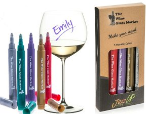 Wine Glass Markers - (Set of 5 Wine Markers)