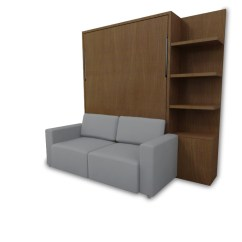 Sofa Murphy Bed Combination Crescent Murphysofa Clean Wall Color Walnut Expand Furniture