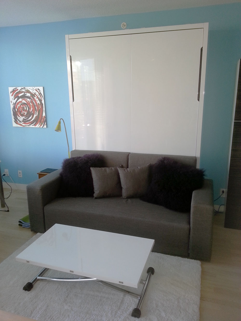 accent sofa divani casa alexandrina grey tufted fabric set wall bed couch combination in main street vancouver ...