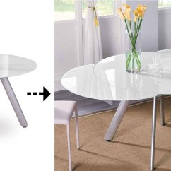 Kitchen Glass Table Cabinet Corner Protectors The Butterfly Expandable Round Dining Expand Furniture Folding Tables Smarter Wall Beds Space Savers