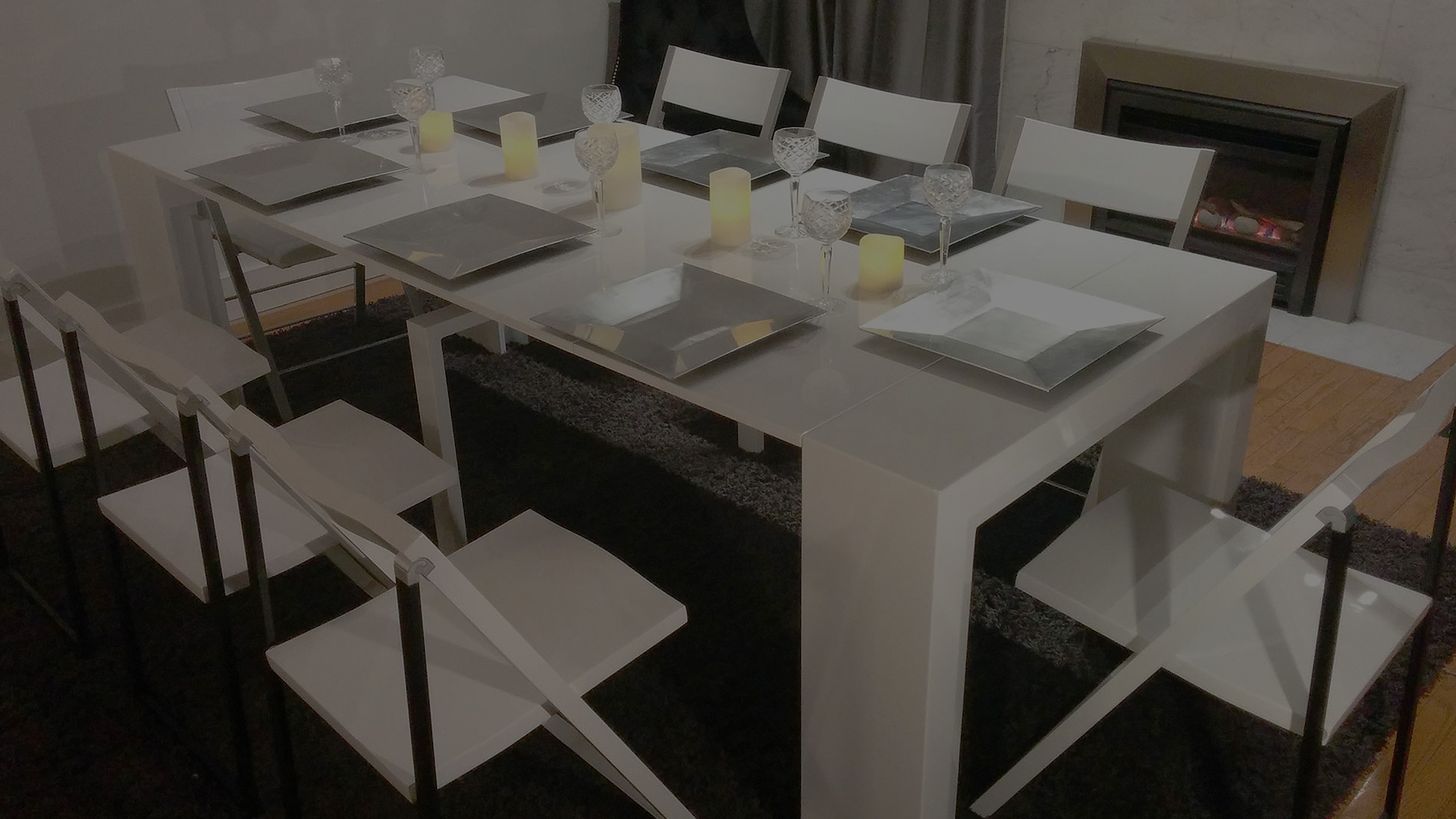 space saving dining table and chairs chair cover hire south wales tables extending occasional