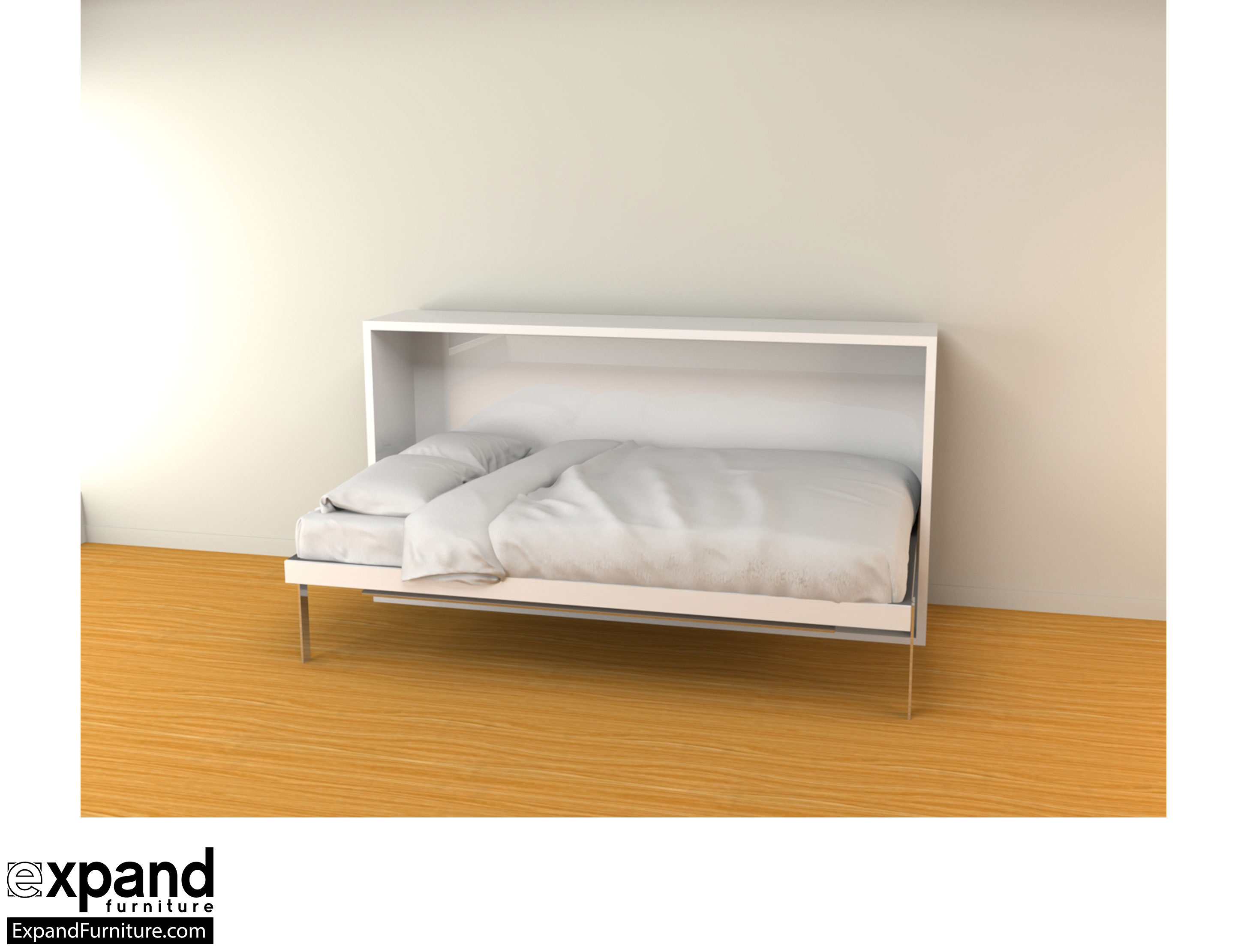 sectional sofa beds for small spaces swedish design hover - horizontal single murphy bed desk | expand ...