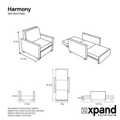 Folding Ottoman Single Sofa Bed Review Furniture Set Wood Harmony With Memory Foam Expand Tables Smarter Wall Beds Space Savers