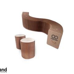 Chair Stool Combo Mat Bunnings Flexyah Brown 1x Bench 43 2x Stools Expand