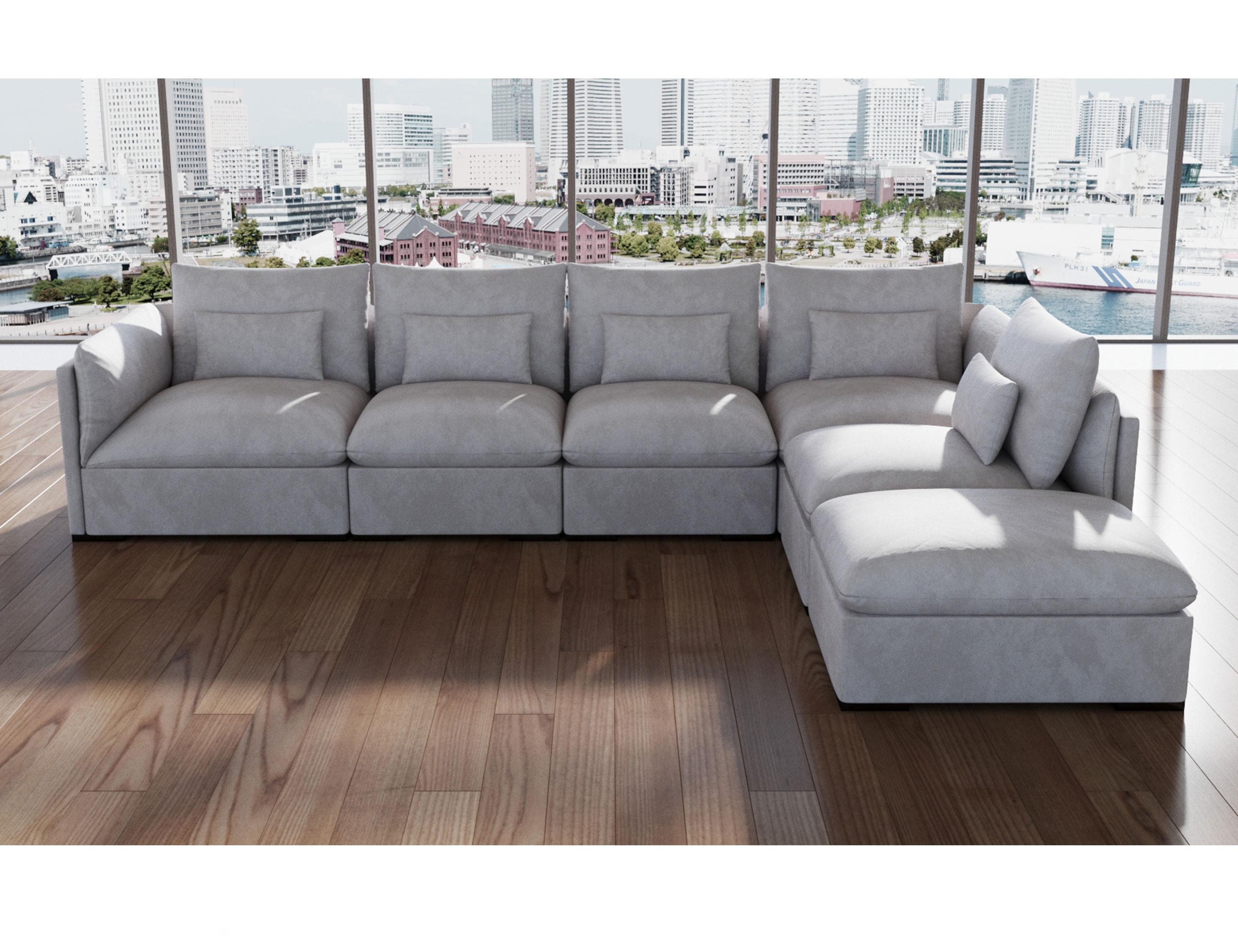 adagio luxury sectional modular sofa set of 4