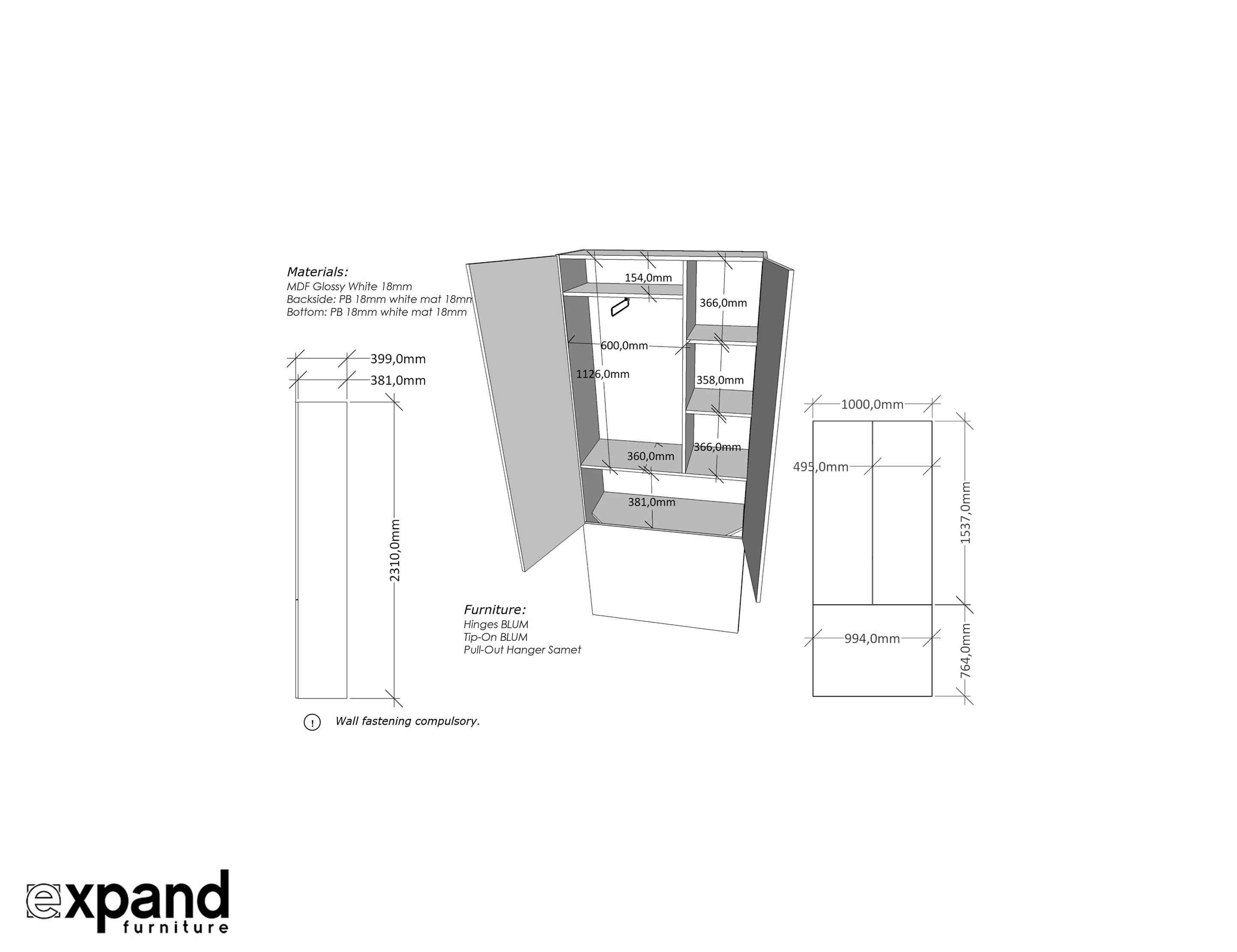 100 cm wide sofa bed mart tyler tx murphysofa  100cm shallow depth cupboard expand