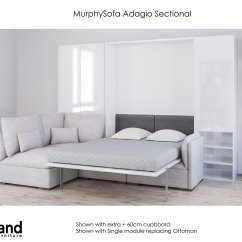 Who Makes The Most Comfortable Sectional Sofa Depth Of Table Murphysofa Adagio - Queen Luxury Wall Bed ...