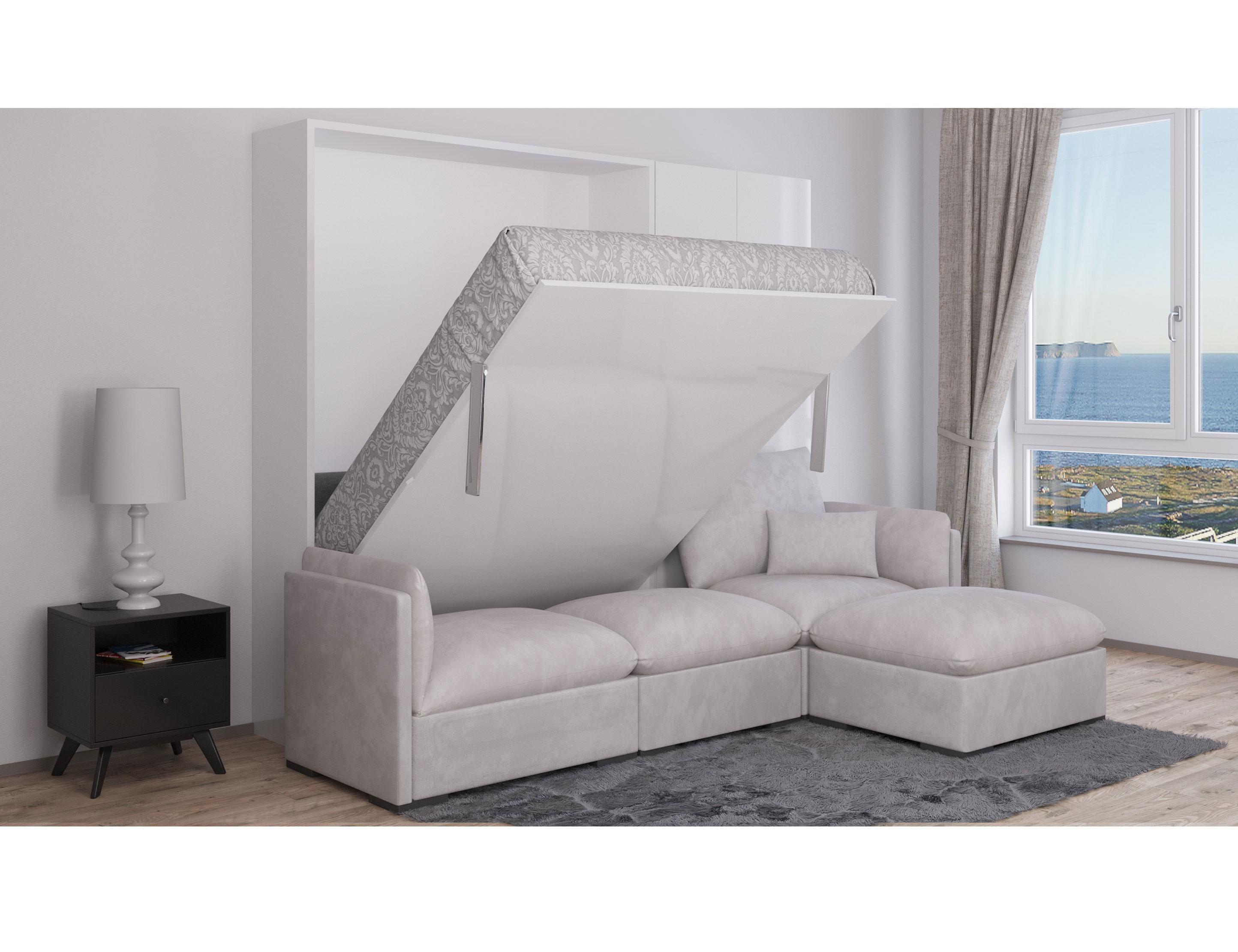 murphysofa adagio queen luxury sectional sofa wall bed