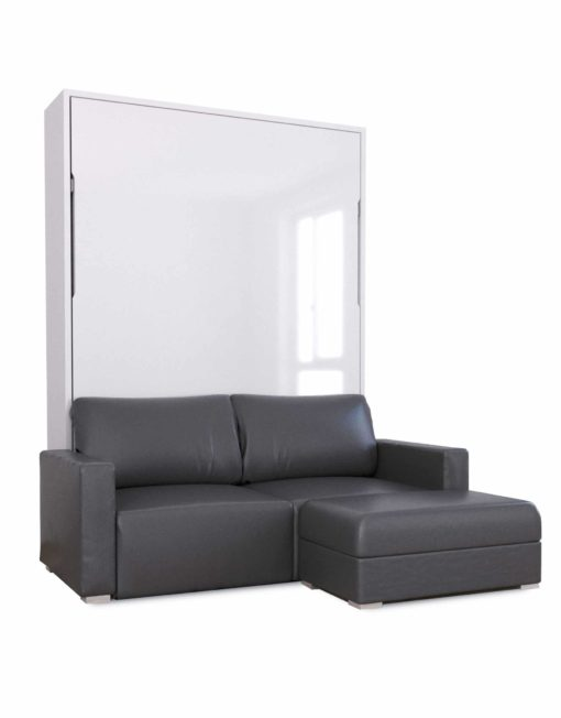 wall sofa companies london murphysofa minima queen in eco leather expand furniture charcoal dark grey bed