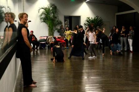 Susan Petry teaching an improvisation class at the Ullens Art Center