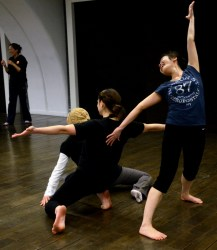 Kelly Hurlburt dancing at the Ullens Contemporary Arts Center
