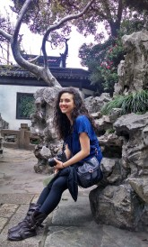 Alice Bacani at the garden in Shanghai. Photo by Leisa DeCarlo.