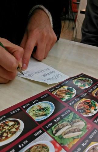 Ordering food. Photo by Leisa DeCarlo.