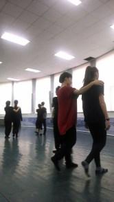 Leisa DeCarlo and student dancing at Changchun University. Photo by Kelly Hurlburt.