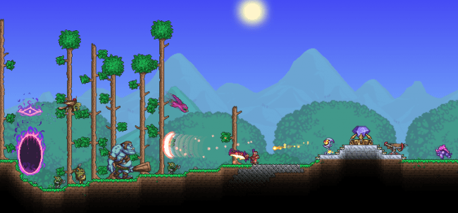 Terraria Invaded By Dungeon Defenders 2 Expansive