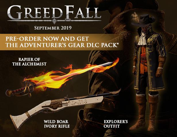 Greedfall Pre-Orders provide The Adventurer's Gear DLC Pack
