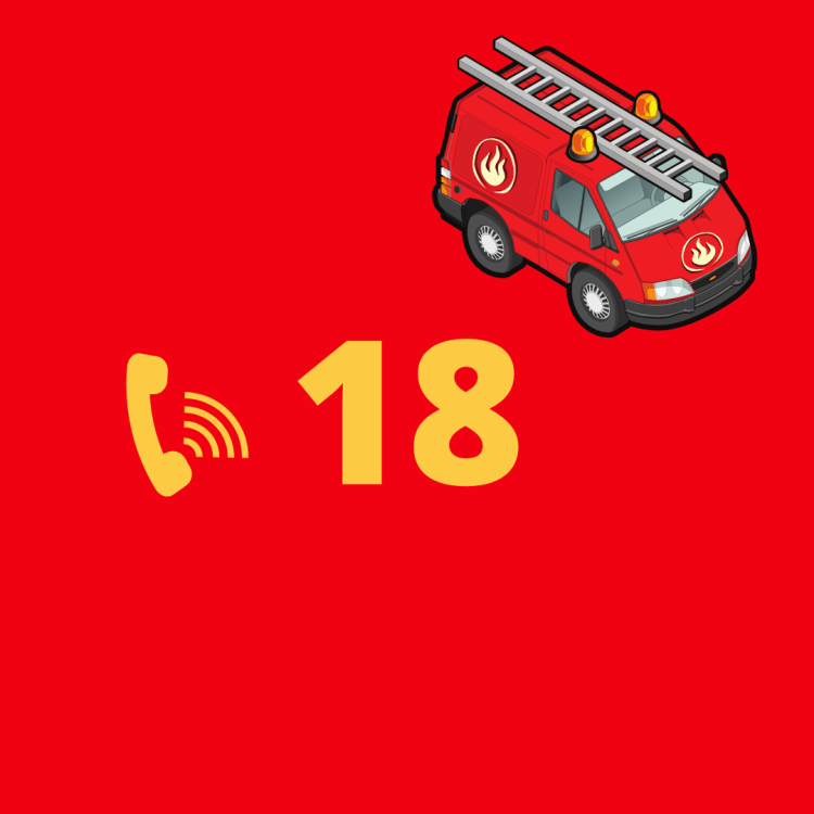 France fire brigade emergency number