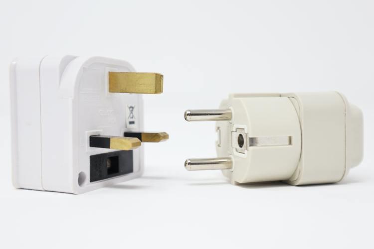 British and European plugs