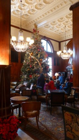 The 25-foot Christmas tree at the Benson Hotel