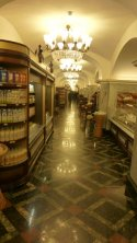 Interior of the GUM grocery store. Plenty of (expensive) food; no bread lines