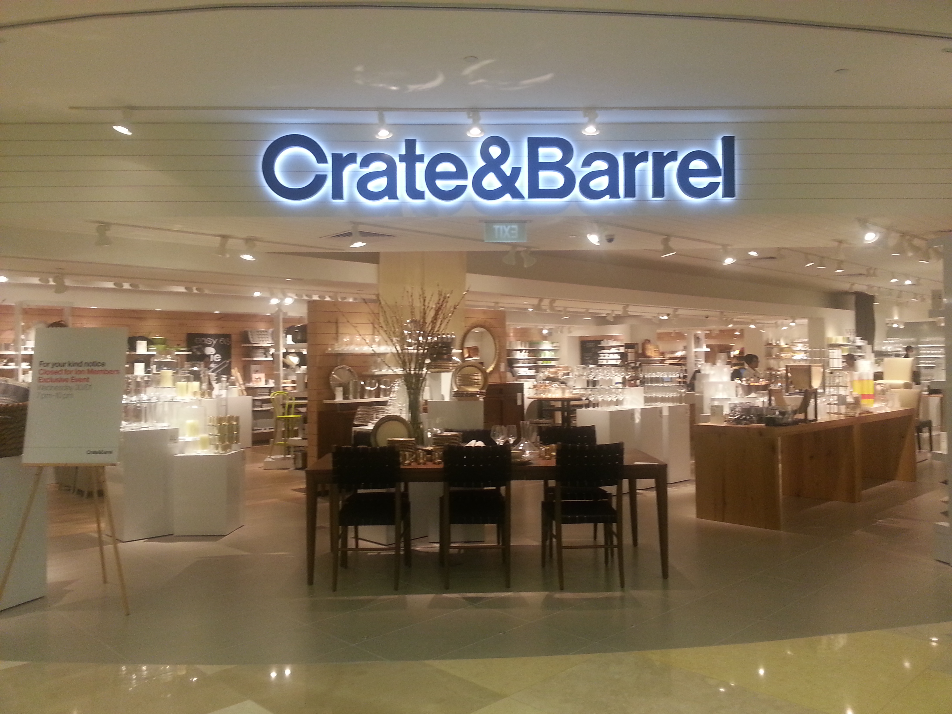 Crate and Barrel has come to Singapore  Expat Bostonians