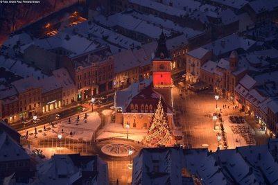 Brasov during winter