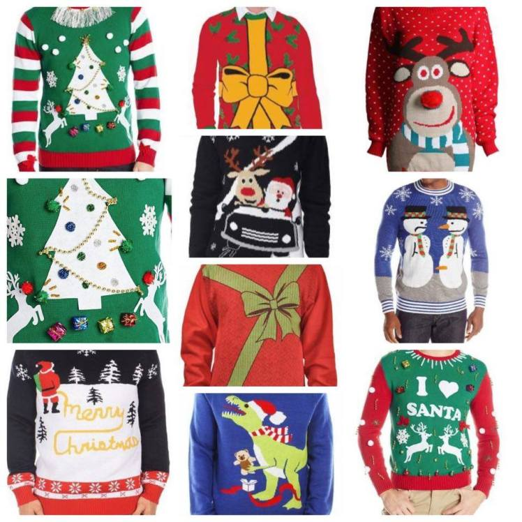ugly christmas sweater selection