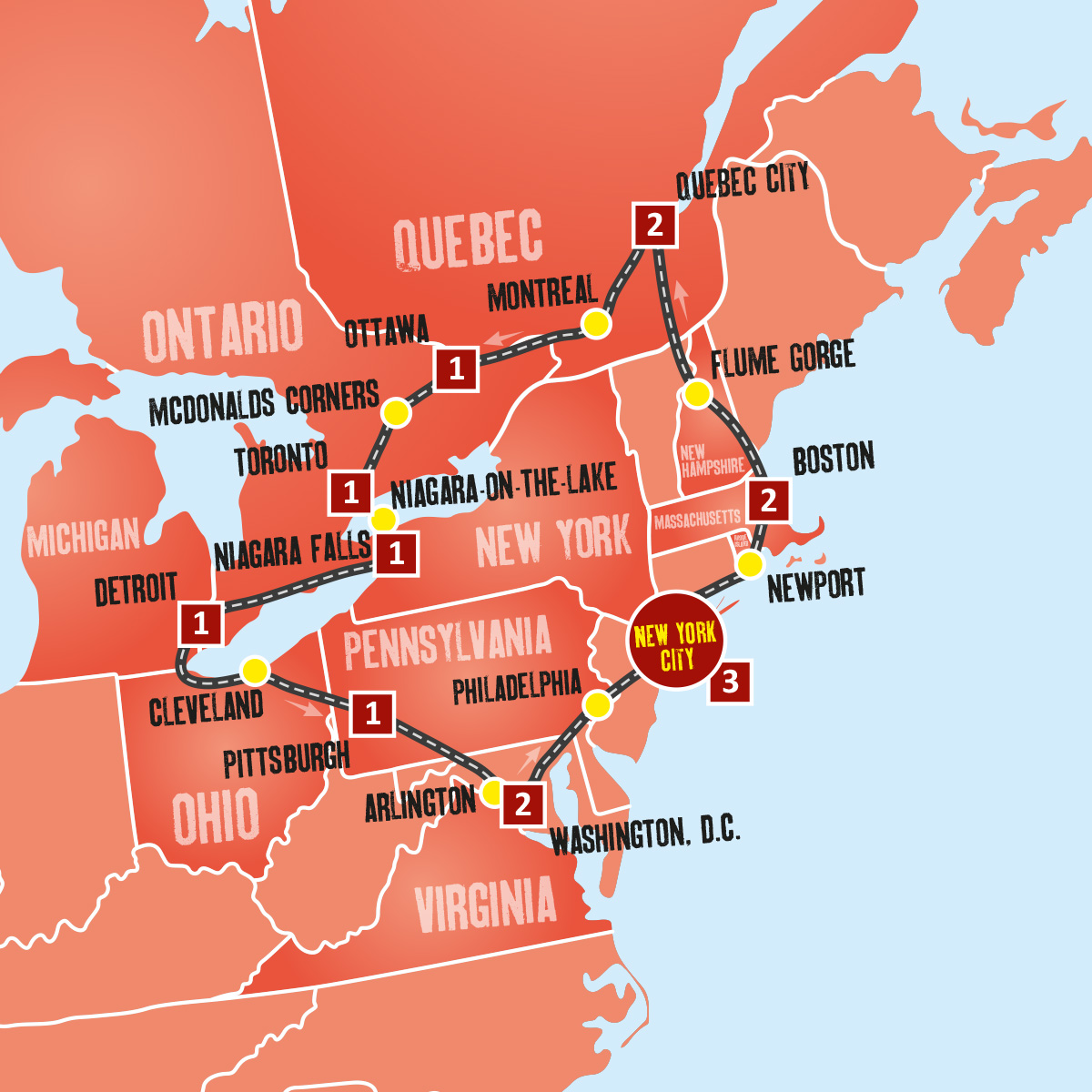 Eastern Usa Amp Canada Coach Tours New York Holidays
