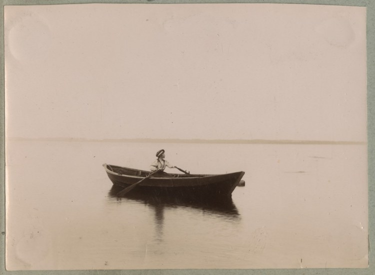 Rowing out to sea