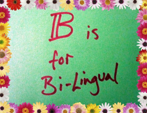 B is for... bi-lingual