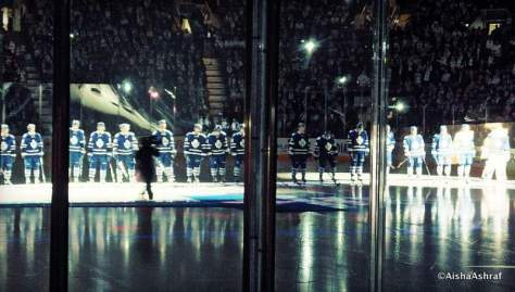 Leafs lineup at the Leafs vs Sabres game at the ACC, Toronto
