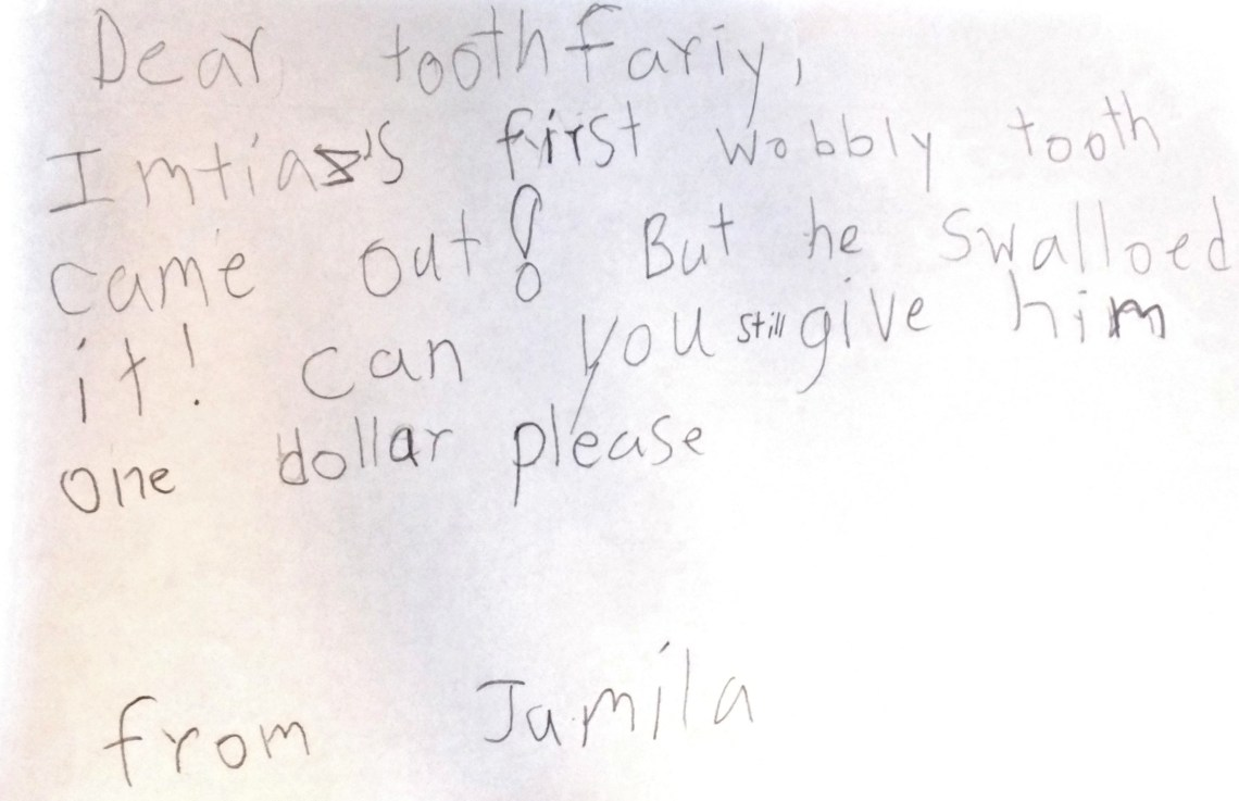 Letter To The Tooth Fairy