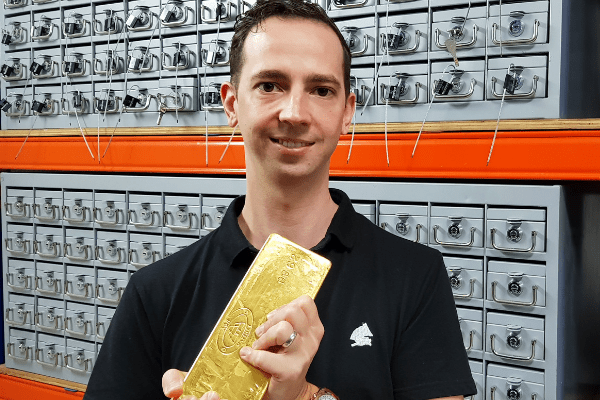 Mikkel Thorup Pictured Here Holding Half A Million In Gold