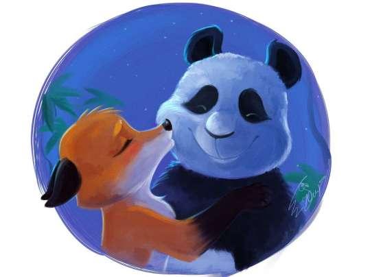 fox_and_panda_by_yankovskayajulia-d842ncf